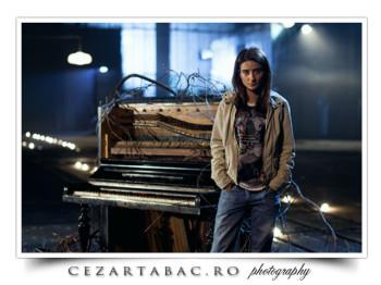 Ana Maria pe platoul de filmare