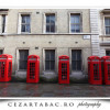 Cabine telefonice din Londra, desigur rosii :)